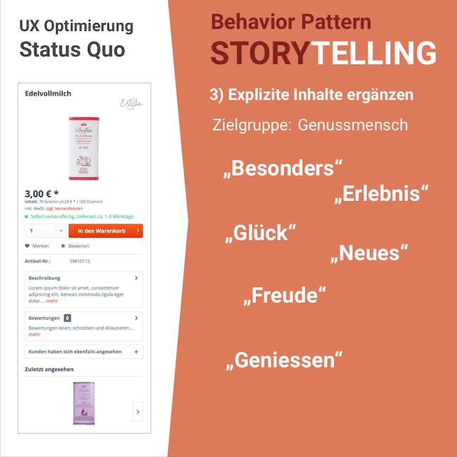 Storytelling: Explizite Inhalte durch UX-Optimierung herausstellen