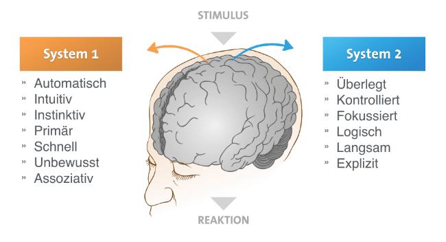 Verhaltenspsychologie zwei Systeme nach Kahneman