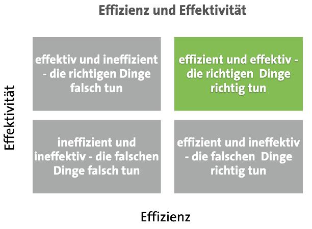 Definition Effizienz und Effektivität