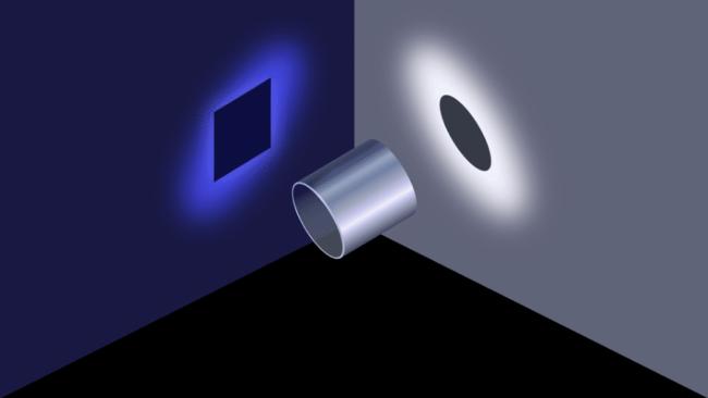 Perspektiven Blickwinkel und Wahrnehmung bei Optischer Täuschung