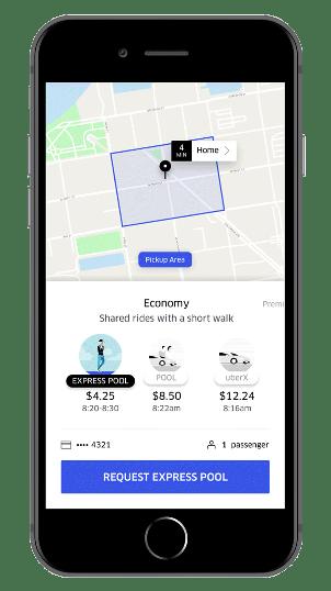 Uber Express Pool Screenshot