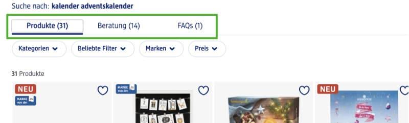 e-commerce-produktsuche-onlineshop-beispiel-onsite-homepage-dm