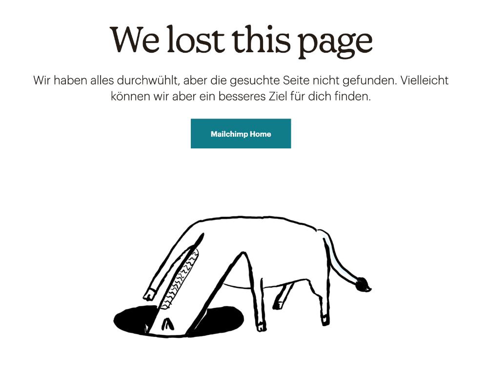 Vergleiche die 5 Merkmale von gutem UX Writing mit der 404 Seite.