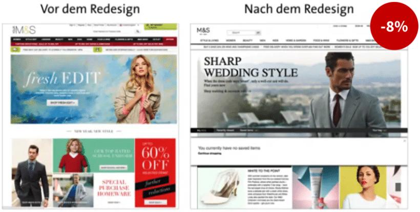 Marks & Spencers Redesign